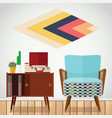 small space living room vector image vector image