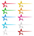 star decoration element with dynamic line trail vector image