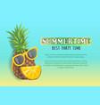 summer beach party banner placard sample vector image