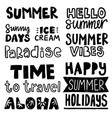 summer phrases vector image