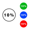 ten percent icon vector image vector image