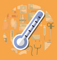 thermometer medical supply healthcare measure vector image vector image