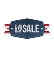 Flag Day Sale festive Banner with Ribbon vector image