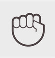 gesture hand clenched into a fist a symbol of vector image