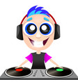 hipster young dj vector image