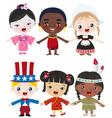 multicultural kids vector image