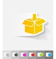 realistic design element box vector image