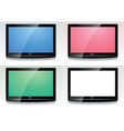set of lcd screens vector image