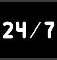 247 service the white color icon vector image vector image
