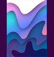 3d paper art bright colorful vector image vector image