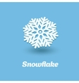 3D snowflake isolated on blue background vector image