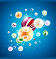 abstract background with composition of spheres vector image vector image