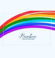 abstract colorful rainbow lines background vector image vector image