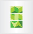 abstract geometric green background vector image vector image