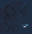 abstract geometric shape from dark blue elements vector image