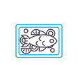 baked turkey linear icon concept baked turkey vector image