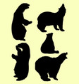 bears animal silhouette vector image
