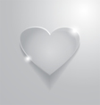 beautiful grey heart sign vector image vector image