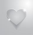 beautiful grey heart sign vector image