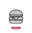 burger icon hamburgercheeseburger symbol vector image vector image