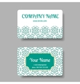 business card collection with chinese ornament vector image vector image