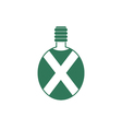 Camping flask icon Tourist bottle isolated vector image