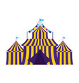 carnival tent amusement vector image vector image