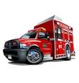 Cartoon Rescue Truck vector image vector image