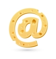 Cheese e-mail mark Symbol isolated on white vector image vector image