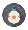 Christmas balls flat icon vector image vector image