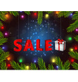 christmas gift boxes of sale vector image vector image