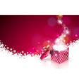 christmas on shiny red background vector image vector image