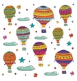 Colorful of flying hot air balloons vector image