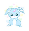 cute suffering rabbit with injured ear yami kawai vector image vector image