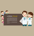 doctor and cute family background banner vector image vector image