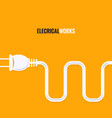 electric plug wire design background vector image
