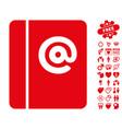 emails icon with valentine bonus vector image