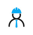 engineer icon stylized logo human in vector image vector image