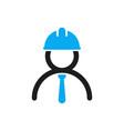 engineer icon stylized logo of human vector image