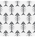 fish bone monochrome seamless pattern vector image vector image