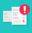 fraud payment rejected or pay declined caution vector image vector image