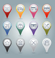 Gps markers set vector image vector image