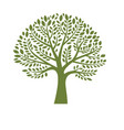 green tree silhouette on white background logo vector image