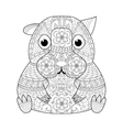 Hamster coloring book for adults vector image