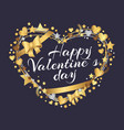 happy valentines day poster inscription in hearts vector image vector image