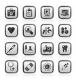 hospital medical and healthcare icons vector image vector image