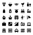 Hotel Services Icons 5 vector image vector image
