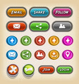 icons and buttons for game ui vector image vector image