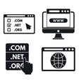 internet domain icons set simple style vector image vector image