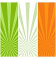 irish flag banners vector image vector image